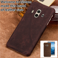 QX15 Gneuine leather back cover case for Xiaomi Redmi 5 Plus(5.99') phone case for Xiaomi Redmi 5 Plus half wrapped case
