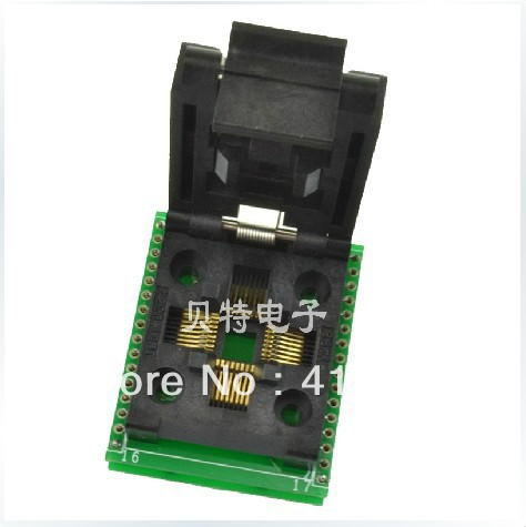 Importing IC QFP32 programming block, SA663 block burning test socket adapter, convert original plcc44 to dip40 block adapter block cnv plcc mpu51 test convert burn