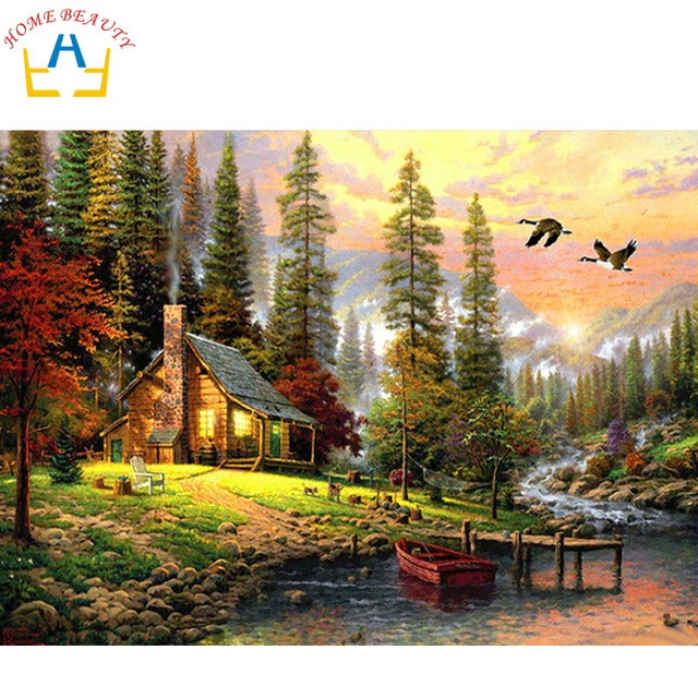 Us 678 47 Offhause Schönheit ölfarbe Malen Nach Zahlen Diy Bild Zeichnung Färbung Auf Leinwand Malerei Von Hand Wandfarbe Landschaft 6386 In