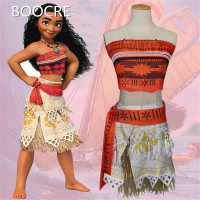 Anime Princess Moana Apparel Child Moana Princess Dress Cosplay Costume Child Adult Halloween Costume Girl Party