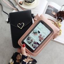 Wallet Shoulder-Bag Transparent Women Ladies Love Phone Hand-Take Design Fashion 257