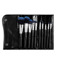 MSQ 10 Pcs 1 Set Professional Cosmetic Makeup Brush Set High Quality Artificial Fiber Brushes With