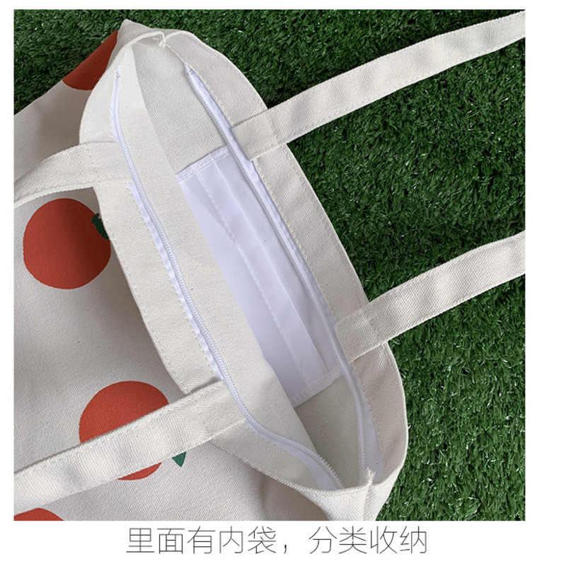 2019 lona bolsas para las señoras de las mujeres de algodón Casual de tela bolso de hombro bolsa de compras plegable bolsa de playa Mujer bolso