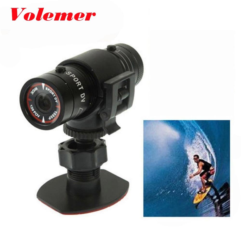 Volemer F9 sports DV waterproof mini camera FULL HD 1080P bicycle Helmet Camera mini DVR Sport CAM CMOS sport micro Camcorder H2