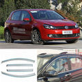 4pcs New Smoked Clear Window Vent Shade Visor Wind Deflectors For VW Golf 6