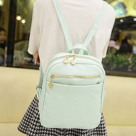 Stacy Bag Hot Sale Women Leather Backpack Girl Small Candy Color Travel Ladies Cute Vintage