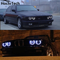 Отличные SMD 5050 СВЕТОДИОДНЫХ белый фар halo ангел демон глаза комплект для bmw E30 E32 E34 1984 1985 1986 1987 1988 1989 1990