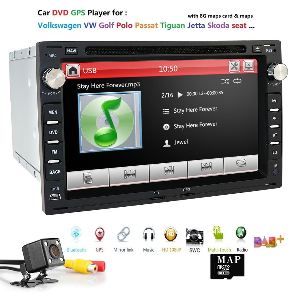 Car DVD Player for <font><b>VW</b></font> PASSAT B5 MK5 <font><b>GOLF</b></font> MK3 IV MK4 Polo MK4 Transporter T5 BORA Ford Galaxy Sharan SEAT <font><b>7</b></font>