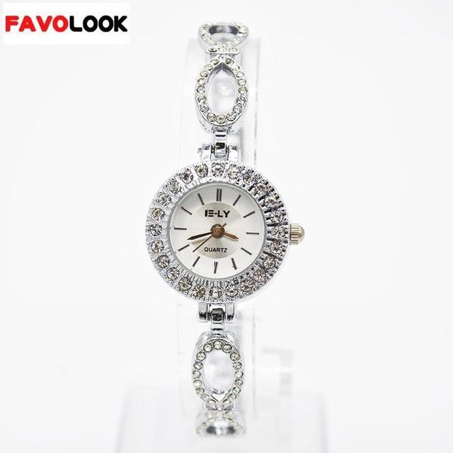 2018 Fashion Rhinestone Watches Women Luxury Brand Stainless Steel Bracelet watc