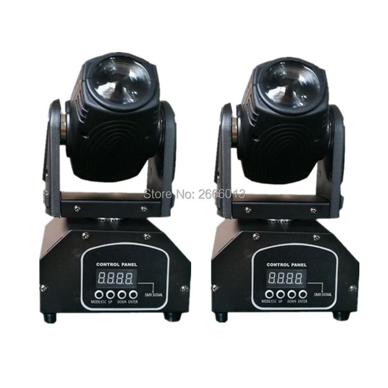 2pcs/lot 10W LED Mini Moving Head Beam Lights,4in1 RGBW LED Pinspot Light Spotlight,DMX512 Disco Stage Spot Lighting For DJ Pub