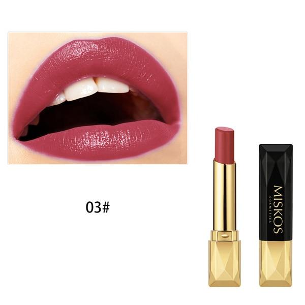 Beauty Matte Lipstick Long Lasting Cosmetics Maquiagem Women Makeup Red Batom Pigments Waterproof Lip Stick Pintalabios Mate 26