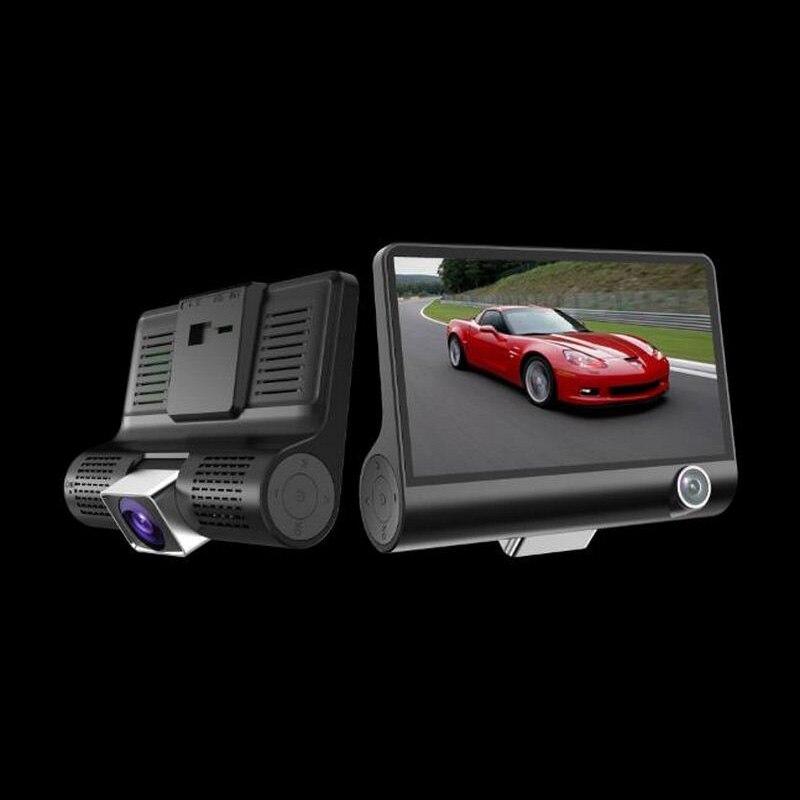 Driving Recorder 3 Lens HD 1080P Night Vision G Sensor HDR Video Motion Detection Parking Monitoring