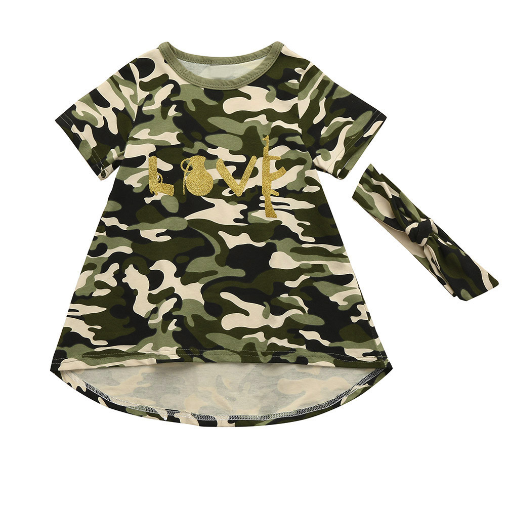 Peridemes Dresses for Girls Children Baby Girls Kids Camouflage Dress+Headband kiz cocuk elbise Clothes Sundress Casual SetPeridemes Dresses for Girls Children Baby Girls Kids Camouflage Dress+Headband kiz cocuk elbise Clothes Sundress Casual Set