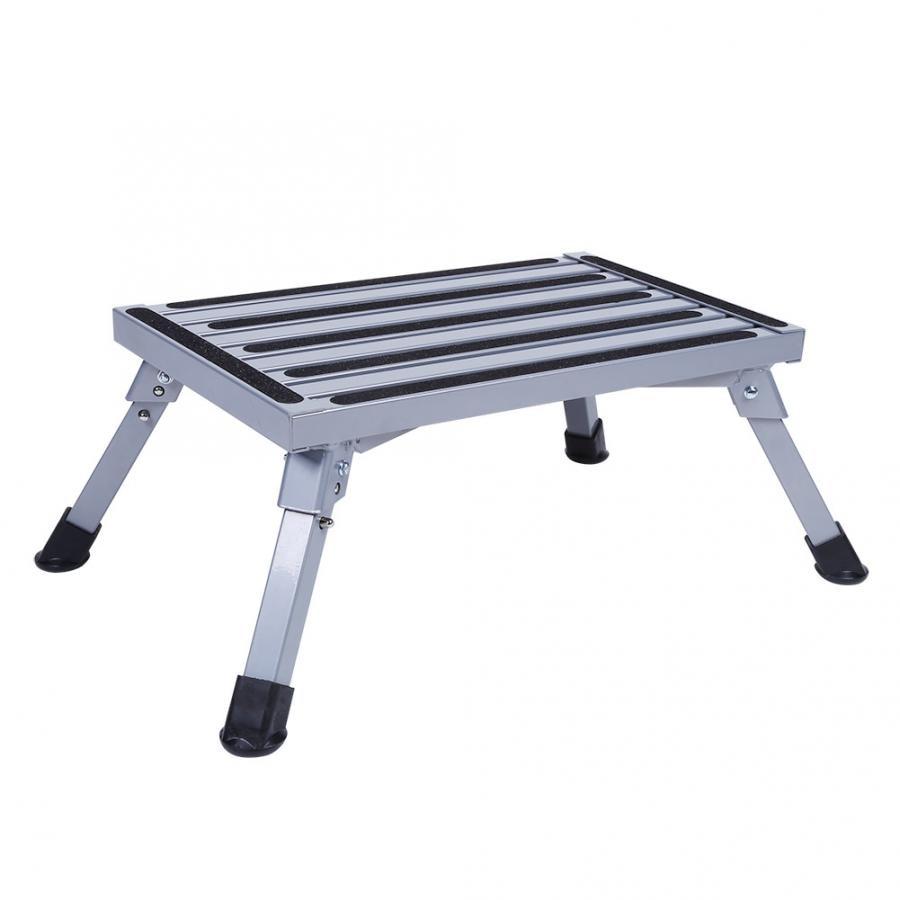 Blue Portable Folding Aluminium Platform Step Caravan Camper RV Accessories