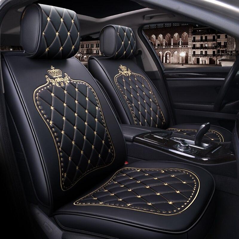 Чехлы сидений автомобиля салонные аксессуары для honda civic vw passat b5 b6 tiguan peugeot 308 toyota corolla mazda CX 5 x5 e53
