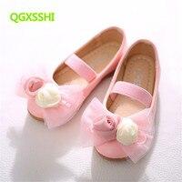 QGXSSHI çocuk performans ayakkabı Kore yeni sıcak Öğrenci çiçekler tekne ayakkabı Kızlar Prenses Kızlar Için dans performansı ayakkabı
