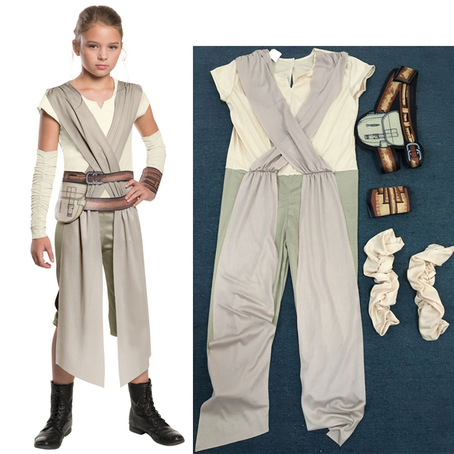 High quality,The Force Awakens Rey Fancy Jumpsuits Girls
