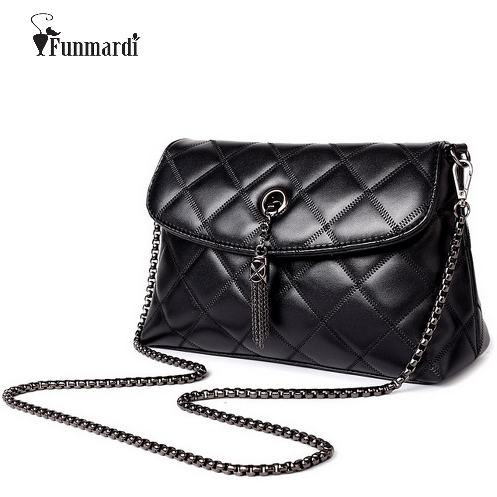 Women Messenger Bags Quilted Leather Women Bag Chain Cross-body Handbags Women's