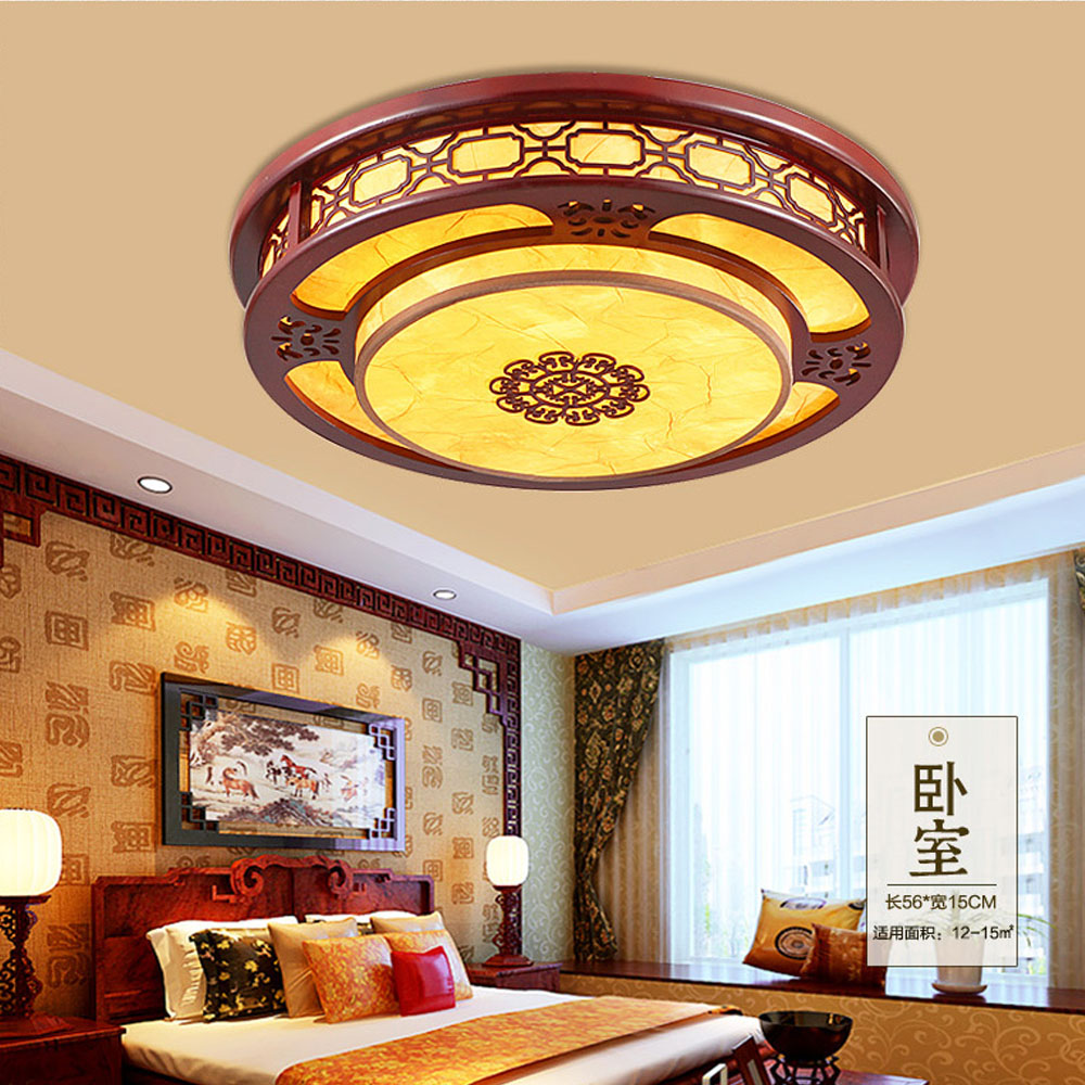Indoor decorative led ceiling lights wall lamps china led ceiling - Wooden Home Decor Lights Led Ceiling Lights Bedroom Living Room 110v 220v Vintage Chinese Led