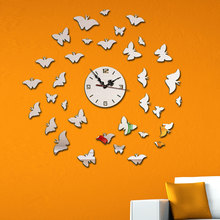 DIY Electronic Wall Clock Vintage For Living Room Mirror Clocks Modern Watch Design Home Decor