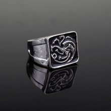 dongsheng Game of Thrones Targaryen Dragon Ring House Targaryen Coat of arms A Song of Ice and Fire Fire and Blood Figure Rings цены