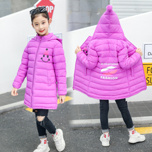 2018 Winter Jacket for Girls Cotton Padded Hooded Kids Coat Children Clothing Enfant Coats Parkas Winter Jackets Kids Clothes стоимость