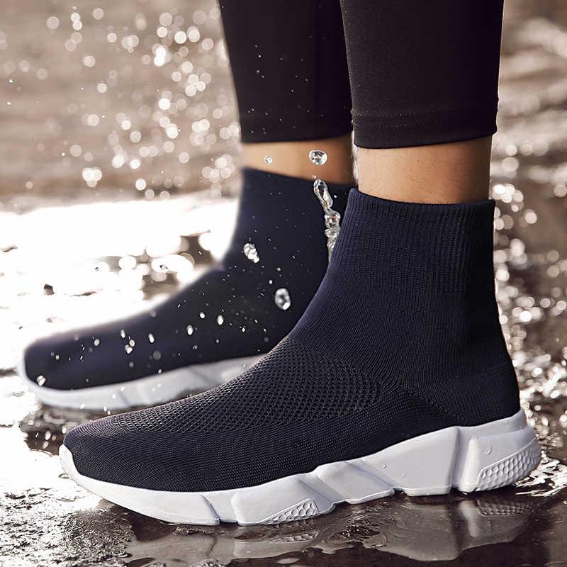 Paar trend marke sport männlichen schuhe Atmungsaktiv laufschuhe für erwachsene 2018 Neue Slip-On Socken schuhe Outdoor fitness turnschuhe