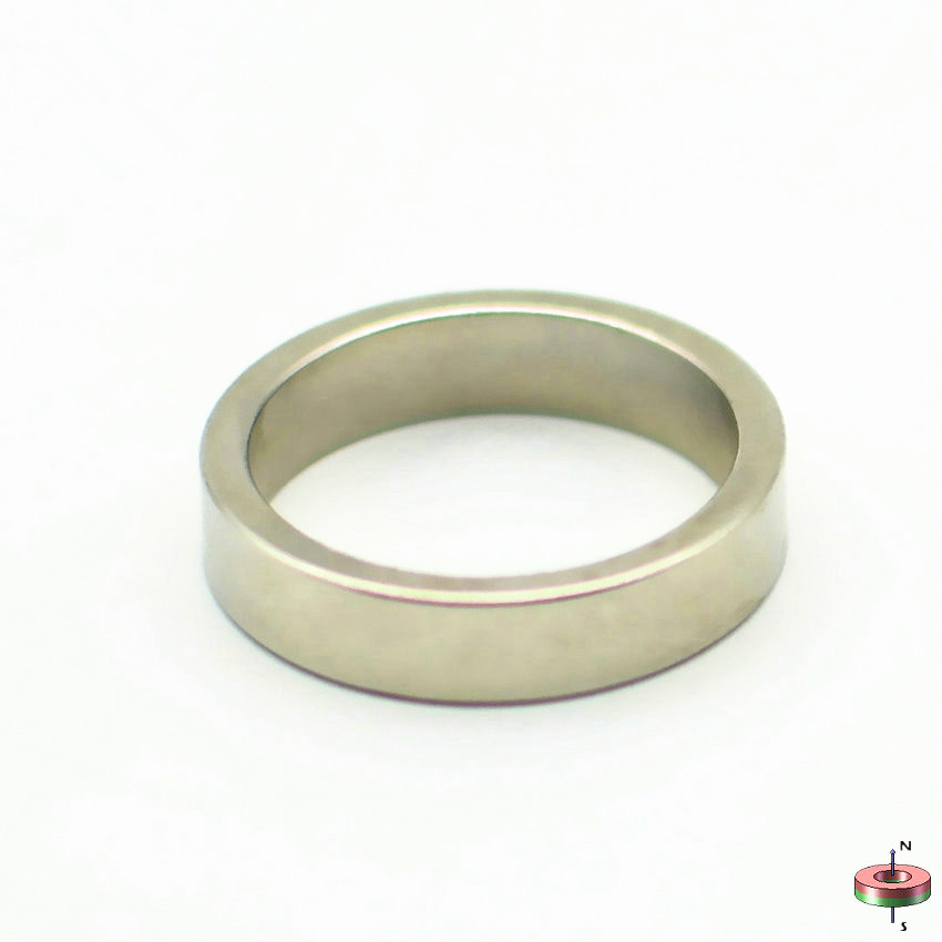 8-200pcs NdFeB N42 Magnet Ring OD 23x19x5 mm 0.91'' Accurate Axially Magnetized Strong Neodymium Permanent Rare Earth Magnet цена