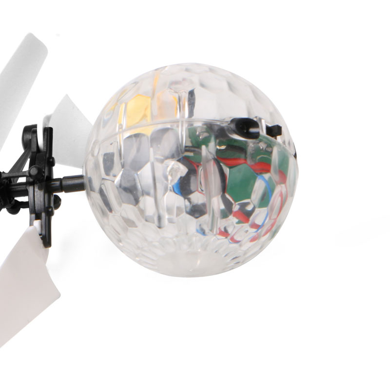 New Flash Flying Ball Infrared Induction Colorful LED Disco RC Helicopter kids Toy