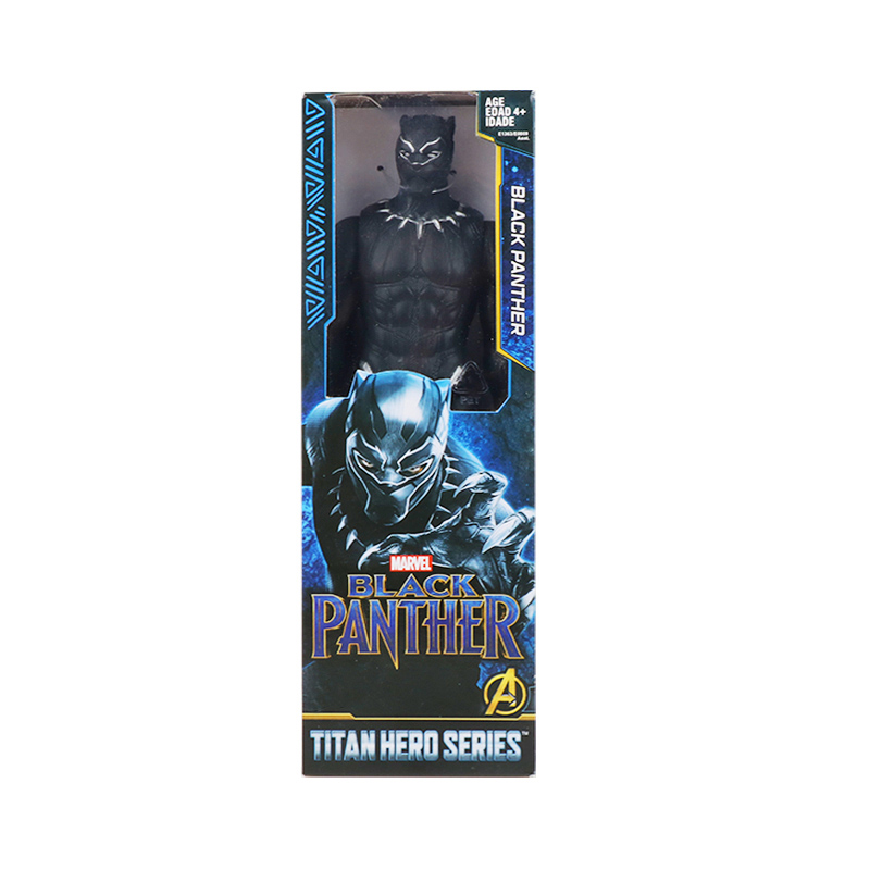 30 см Marvel Мстители эндшпиль танос Человек-паук Халк Железный человек Капитан Америка Тор Росомаха Веном Фигурка Игрушки Кукла Детская - Цвет: blackpanther has box