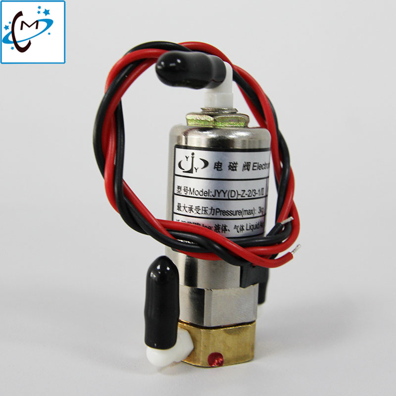 JYY solenoid valve 5 5W 24V for Infiniti Wit color Phaeton Crystaljet inkjet printer JYY D