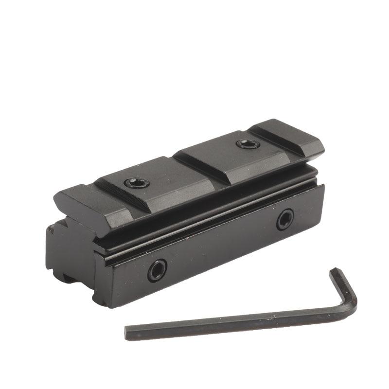 цена на 11mm to 20mm Weaver Rail Scope Mount Rifle Base Adapter Converter Hunting Caze Accessories Black