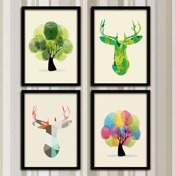 33*43cm Countryside Style Creative Hanging Frame Painting Modern Small Mural Living Room Bedroom Home Decoration Painting