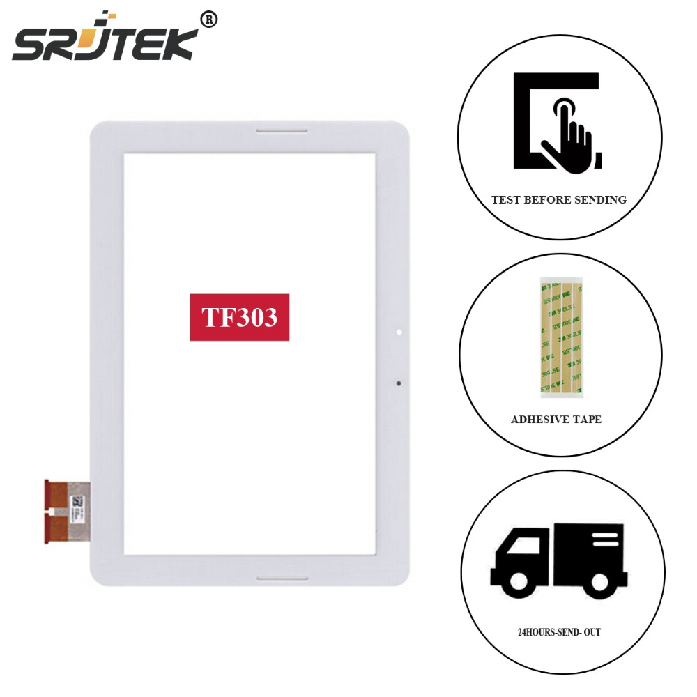 Srjtek For Asus Transformer Pad TF303 TF303K TF303CL Touch Screen Digitizer Glass Parts Tablet PC new for asus eee pad transformer prime tf201 version 1 0 touch screen glass digitizer panel tools
