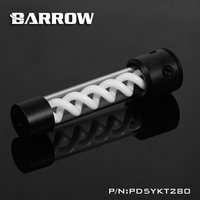 Barrow PD5YKT280 D5 VIRUS T Cylinder Water Reservoir Water Tank Computer Water Cooling UV Lighting Included PMMA POM