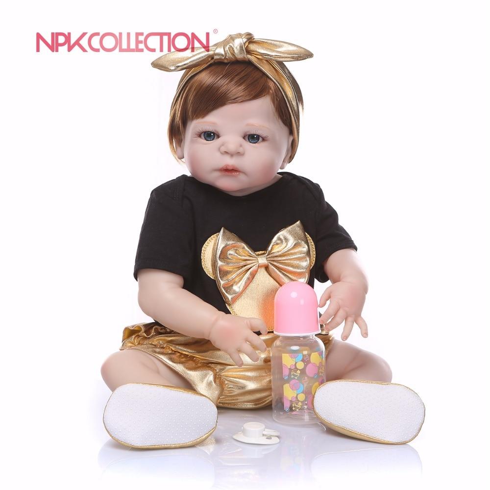 55 см полный силиконовый корпус Реалистичного Reborn игрушка кукла для девочек ручной работы новорожденных жив детские игрушки подарки на Рожд...