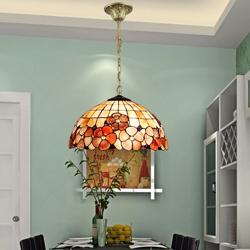 Tiffany Mediterranean style natural shell pendant lights lustres dining room bar home lighting tiffany mediterranean style peacock natural shell ceiling lights lustres night light led lamp floor bar home lighting