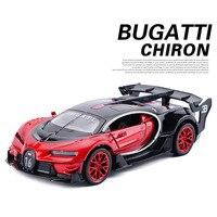 New 1 32 Toy Car Bugatti Metal Alloy Diecast Car Model Miniature Scale Model Sound And