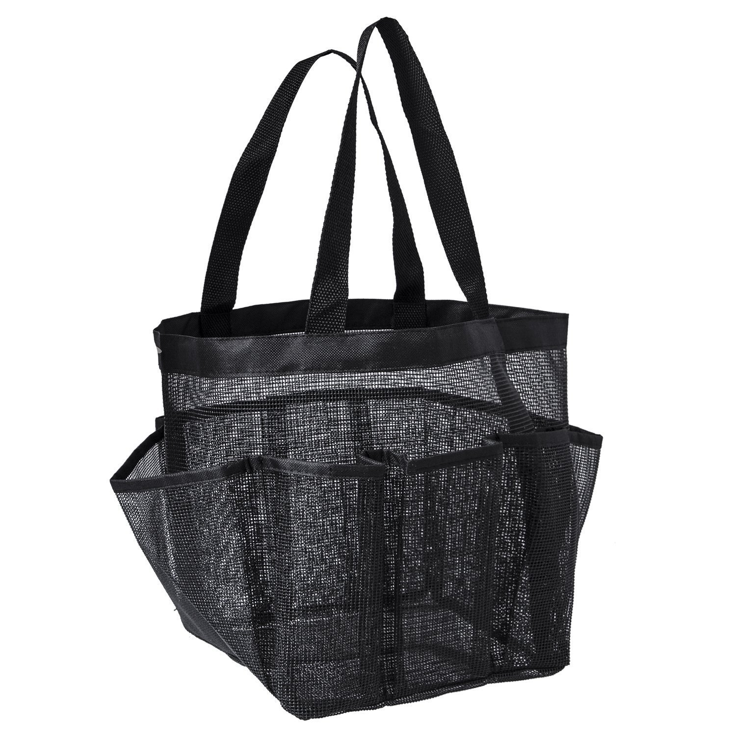 FGGS Portable Mesh Shower Caddy, Quick Dry Shower Tote Hanging Bath & Toiletry Organizer Bag 9 Storage Pockets, Double Handles