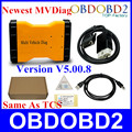 Высокое Качество MVDiag V5.00.8 R2 Бесплатный Активировать MVDiag Зеленый PCB Новый VCI для Автомобилей Грузовик Же Функции, Как TCS 3 в 1 Диагностический Инструмент