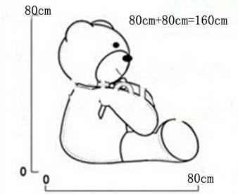Giant teddy bear რბილი სათამაშო 160 სმ - პლუშები სათამაშოები - ფოტო 6