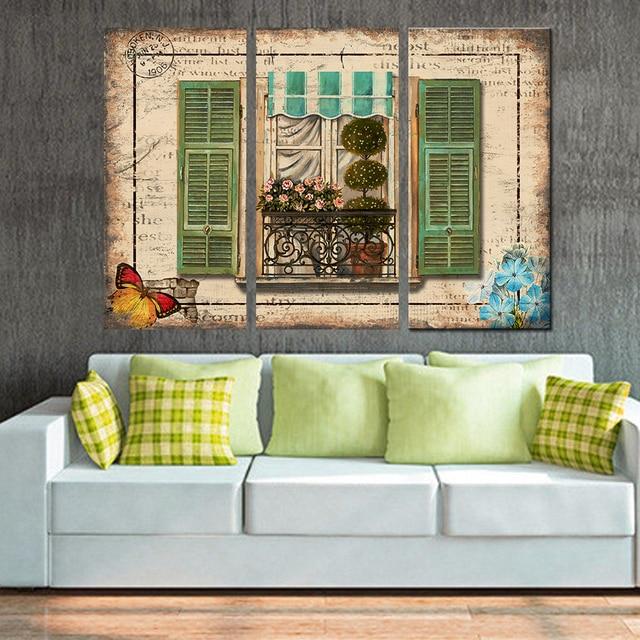 Комплект из 3 предметов Холст Картина Дерево современного абстрактного украшения дома Модульная картина для Гостиная стенки не оформлена