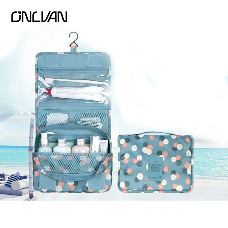 ONLVAN cosmetic Canvas Women Make up bags Wash Bags Travel Accessories Box Organizer Travel Supply Make Up Case Makeup Brushes