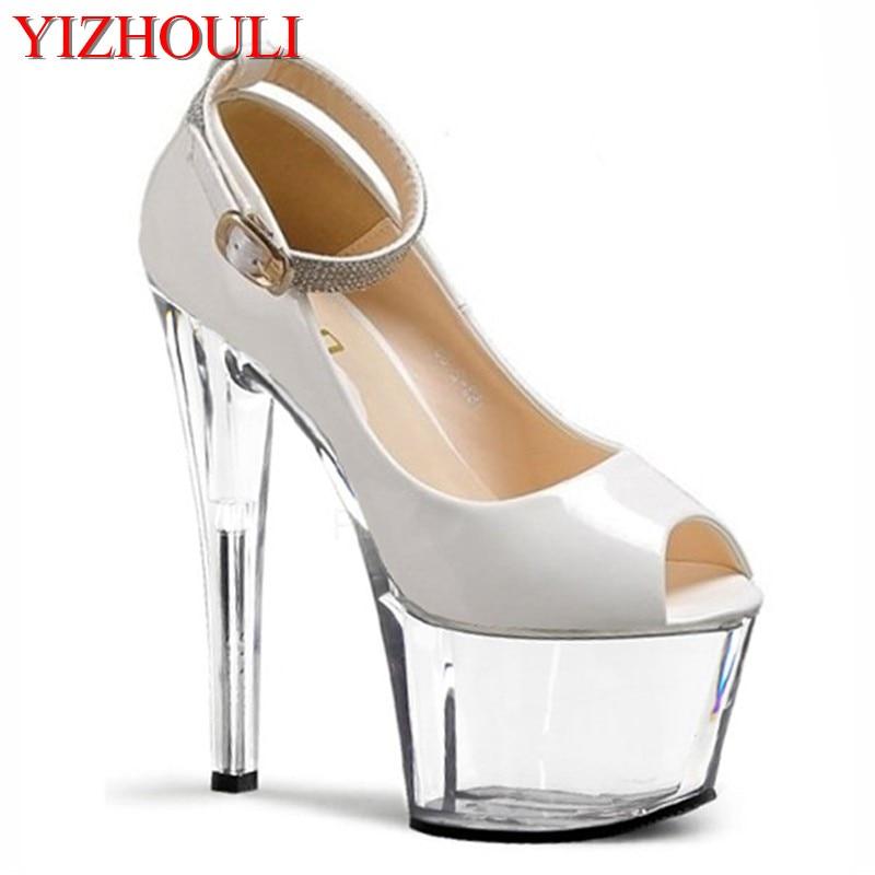 Noir La Exotique Cm Femmes Nouvelle blanc Hauts Sexy Chaussures Mode Talons Vente De 17 À Pompe Bout Bretelles Talon Chaude TrUZwTq