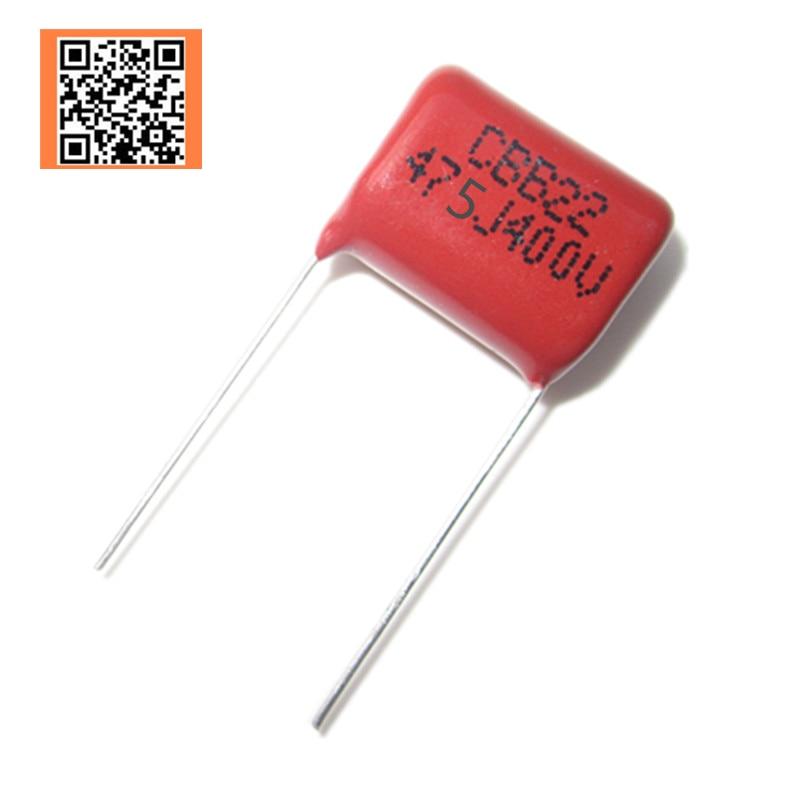 10x CBB Metallized Film Capacitor Kit 63V 224J 220nF 5mm For DIY