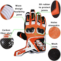 Free shipping 2017 KTM Motocross Racing Motorcycle Bike Carbon Offroad Fiber Leather Gloves M-XL