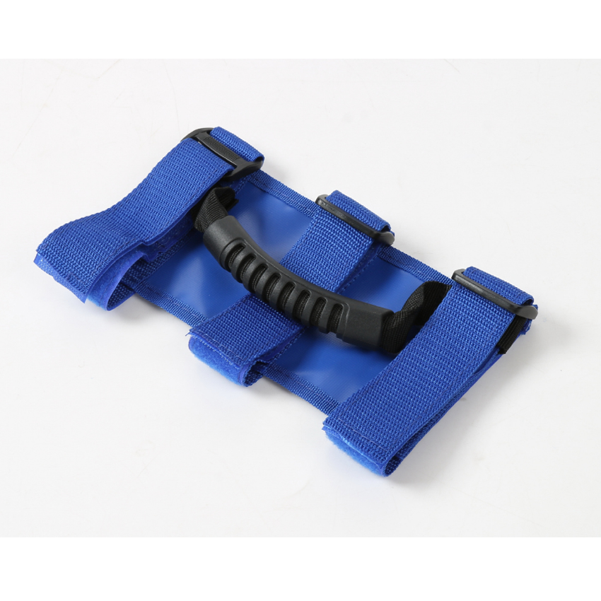 New Blue Wide Car Roof Top Grab Handles Roll Bar Grip Hand Hold Adjustable Strip for 2007-2016 Jeep Wrangler Car Styling