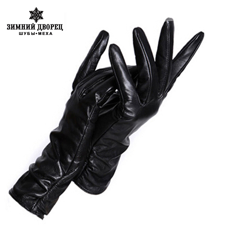 2019 fashion Ieather gI0ves, multiple C0l0ur,Genuine Leather,winter gI0ves,w0men Ieather gI0ves,winter gI0ves w0men-in Women's Gloves from Apparel Accessories