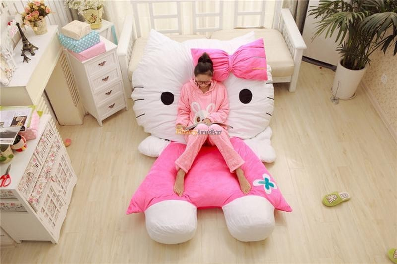 Fancytrader 200cm X 150cm Huge Giant Cute Pink Hello Kitty Tatami Bed Carpet Sofa, Gift For Girls, Free Shipping FT90292 (9)