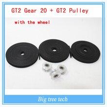 GT2 Шкив и Ремень Грм Комплекты GT2 открытым ремень грм ширина 6 мм GT2 пояса с 20 передач диаметр 5 мм с бесплатной доставкой